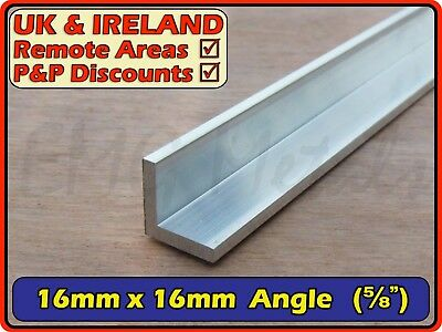 "Aluminium Angle (L section, edging, bracket, ally, alloy, trim) | 16x16mm (5/8"")"