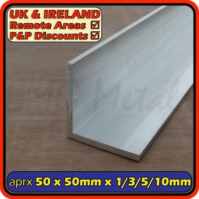 "Aluminium Angle (L section, edging, bracket) | 51x51mm (2"")(1mm 2mm 3mm 5mm 6mm)"