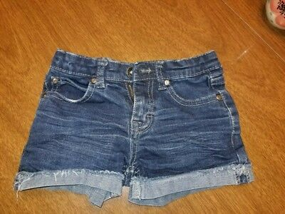 Paper, denim and cloth little girls shorts, denim, size 6.