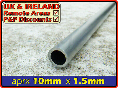 Aluminium Round Tube ║ 9mm - 10mm diameter ║ circular section,tubing,pipe,OD,chs