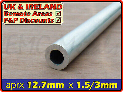 Aluminium Round Tube ║ 12mm - 13mm diameter ║circular section,tubing,pipe,OD,chs