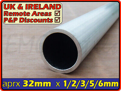 Aluminium Round Tube ║ 30mm - 32mm outside diameter║ section,pipe,Internal ID OD