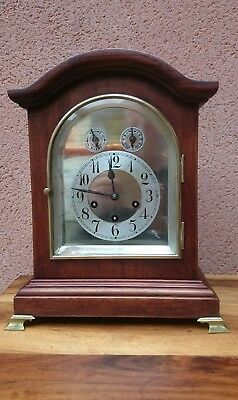 Large Westminister Chimes Junghans Mahogany Bracket Clock
