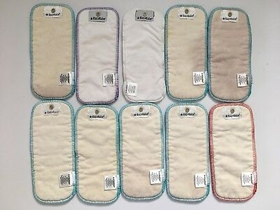 Lot of 10 Ragababe inserts, SMALL DOUBLER organic cotton hemp DIAPER