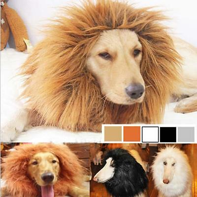 Pet Costume Lion Mane Wig Hair for Large Dog Halloween Clothes Fancy Dress up F&