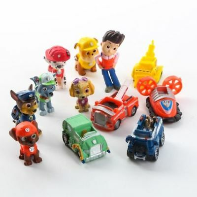 Paw Patrol Cake Toppers Action Figures Puppy Patrol Dog Kids Toy Gift 12 pc Set