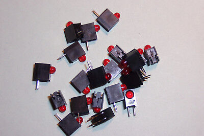 Right angled PCB LED's Red Model Railway signals etc. Qty. 20 NEW