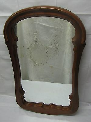 BEAUTIFUL ANTIQUE WOOD FRAME GLASS MIRROR 36 x 22 LARGE, US-MIDWEST RESELLER