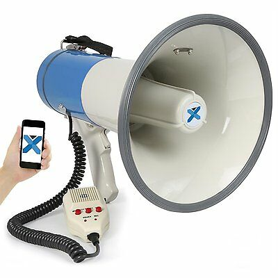 Megaphone usable with the batteries with 55 Watts power ed a range d'azio