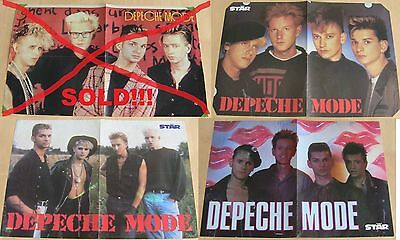 Depeche Mode Original Rare Vintage Posters Hungarian STAR magazine 39.99 Each!