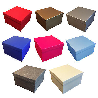 Quality Plain Gift Boxes Birthday Presents Gifts Storage Various Sizes & Colours