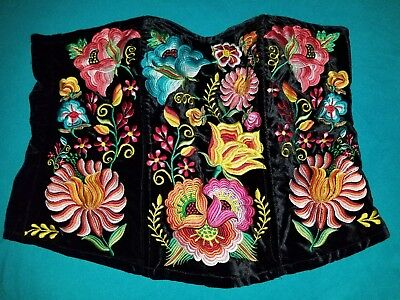 New Sexi Corset Tehuana Enbroidered Size 40 (xlarge)