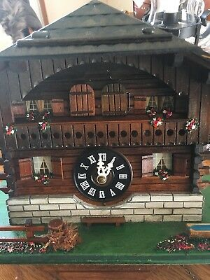 Swiss Chalet Musical cuckoo clock Complete & Working