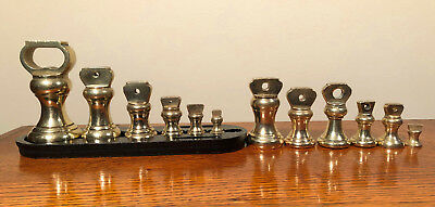 12 English Make Brass scales Bell Weight 6 on stand - See Pictures