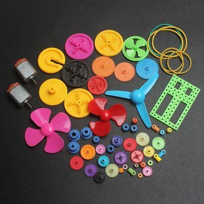 DIKAVS Colorful DIY 57 kinds of color plastic gearbox toy car gear motor gear