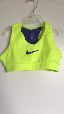 Girls Medium Yellow Nike Sports Bra