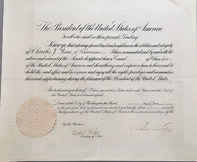Calvin Coolidge signed foreign service appointment