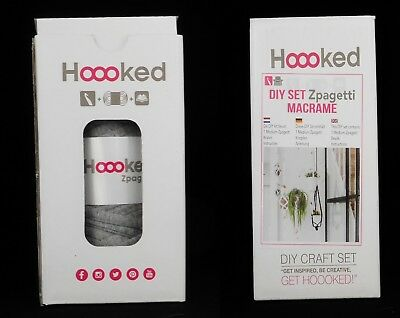 Hoooked DIY Kit Zpagetti Macramé Hanging Basket Choice Of Colours