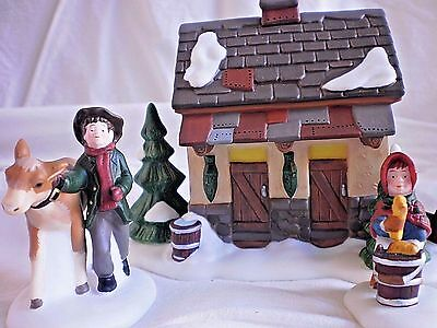 Dept 56 Tending the New Calves #58395 Dickens Heritage Village Accessory