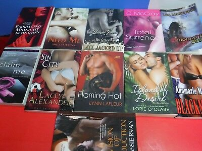 A Lot Of 11 Erotica Romance Novels By Various Authors