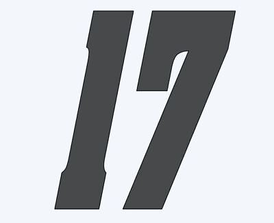 17 sports racing mx car number multiple size color fonts window decal sticker
