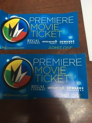 2 Regal Cinemas Premiere Movie Ticket Fast Free Shipping!!!
