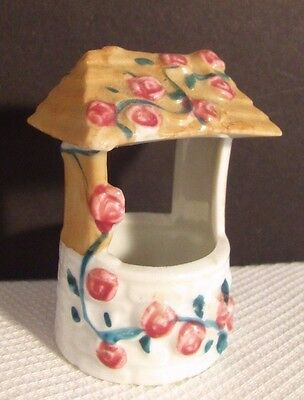 Porcelain Wishing Well Hand Panted Toothpick Holder Japan A Nat Sup Co Original
