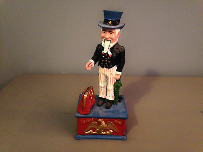 Vintage 1900's Steel Uncle Sam United States Figure Bank