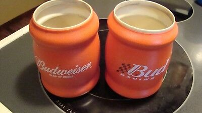 RED BUDWEISER HARD FOAM INSULATED CAN HOLDERs KOOZIE BOWTIE KING OF BEERS