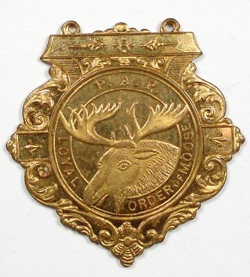 Loyal Order Of Moose L.O.O.M. P.A.P. gilt bronze medal (pointed)