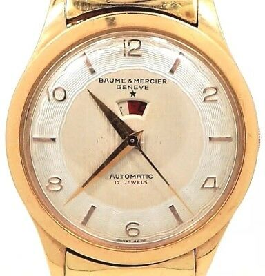 Baume & Mercier Heavy 18K Solid Gold Swiss Made Automatic Vintage Men's Watch