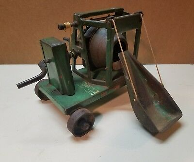 Antique Buddy L 1930's Pressed Steel Concrete Cement Mixer All Original Toy