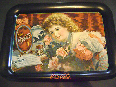 Coca-Cola Serving Tray Lovely Vintage Victorian Girl With Roses