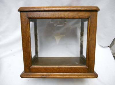 Antique Country Store OAK Showcase DISPLAY Cabinet sm.sz- lighters,knives,pens