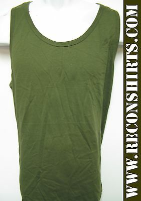 Military Tank Top/ Olive Green Color/ Blank/ Bdu/  New
