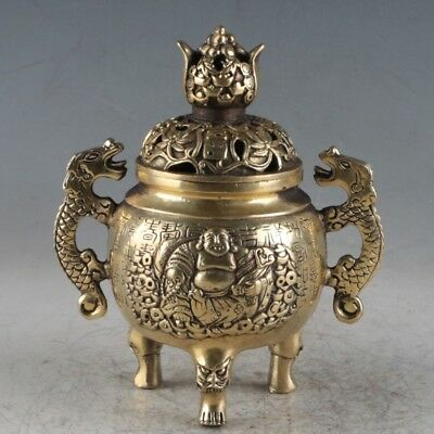 Chinese Brass Buddhism Incense Burner Made During The QIan Long Period TQ013
