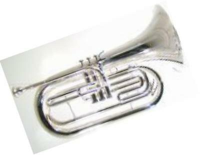 bm-301 marching baritone, silver-plated