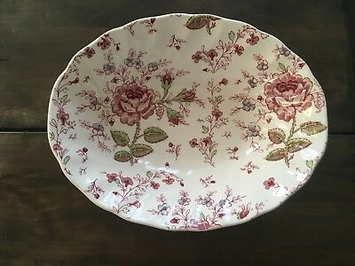 Beautiful Hand Painted Vintage Johnson Brothers Rose Chintz Serving Bowl