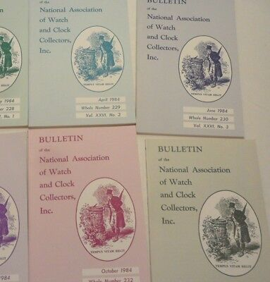 NAWCC BULLETIN Nat'l Assn of Watch Collector 5 of 1984, Missing #232 August