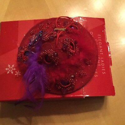Red Hat Ornament By Kurt Adler For Avon. New In Box. Free Shipping!