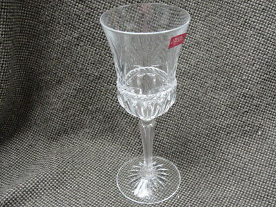 """8 - CRISTAL D'ARQUES Crystal Goblet / Wine Glass """"CARTHAGE"""" Pattern 8-3/4"""" high"""