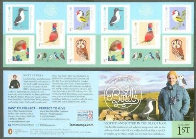 Isle of Man- Matt Sewells Birds of the Isle of Man booklet mnh complete