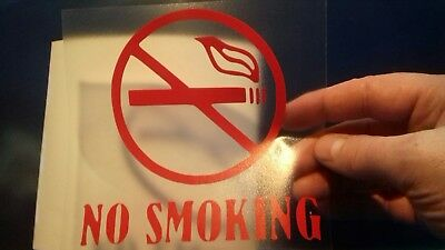 2  NO SMOKING SAFETY WARNING SIGNS Sticker for car window glass wall door