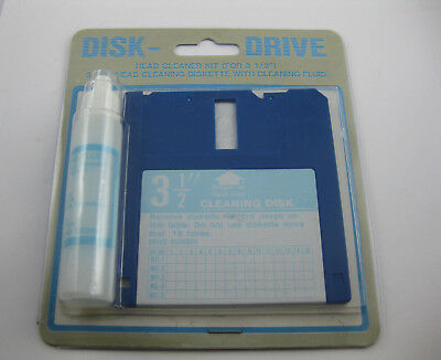 Disk Drive Head Cleaner KIT 5.14 Zoll Cleaning Diskette OVP #609