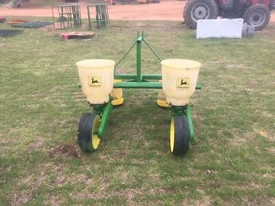 2 row john deere 71 planters checked ready to plant