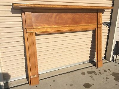 "Vintage Wood Fireplace Mantle - 67 1/2"" Wide X 53"" Tall - Very Good"