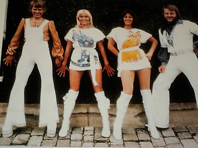 Abba /  Nice  8 X 10  Color  Group  Photo