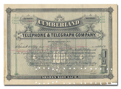 Cumberland Telephone and Telegraph Company Stock Certificate