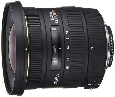 Sigma AF 10-20 mm f/3.5 DC HSM Lens For Nikon DX Format **MINT** Condition
