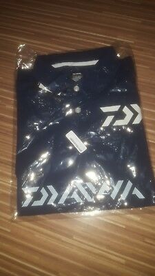 Daiwa DE-6504 Polo T Shirt Short Sleeve High Quality Size XL Navy